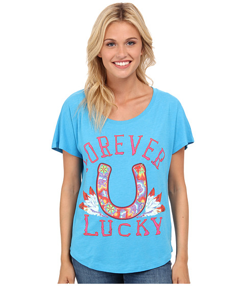Gypsy SOULE - Vintage Forever Lucky Tee (Turquoise) Women's T Shirt