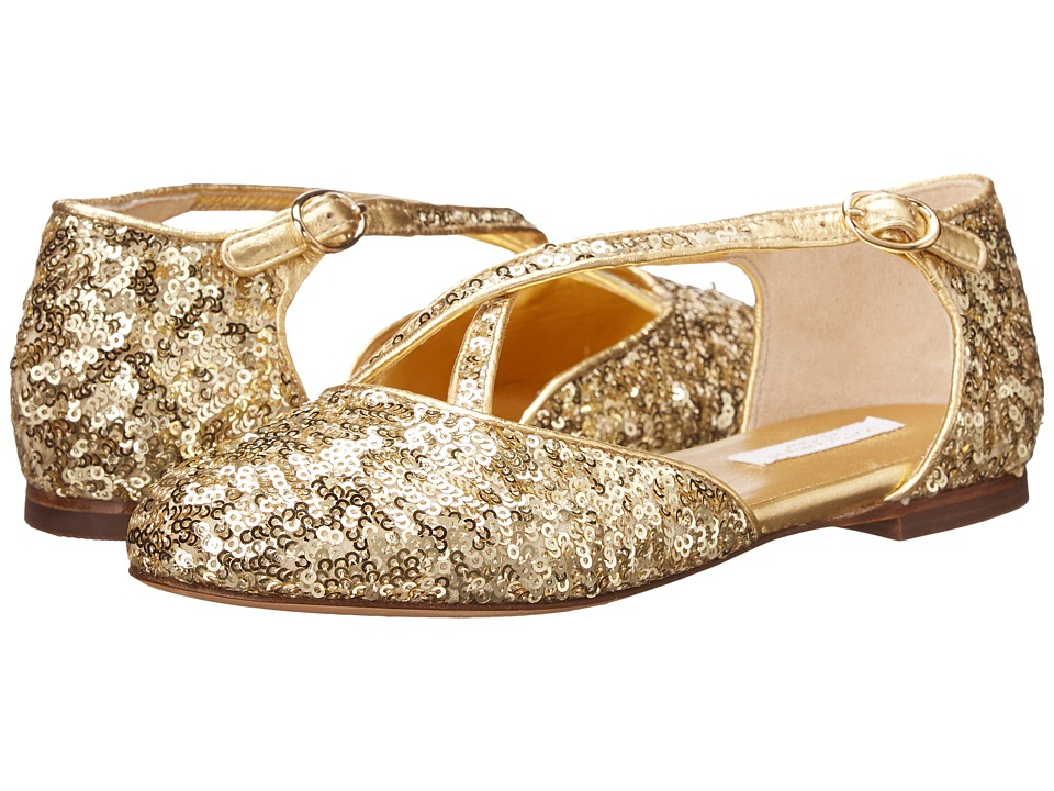 Dolce & Gabbana Kids Paillettes Sandal (Little Kid/Big Kid) (Gold) Girls Shoes