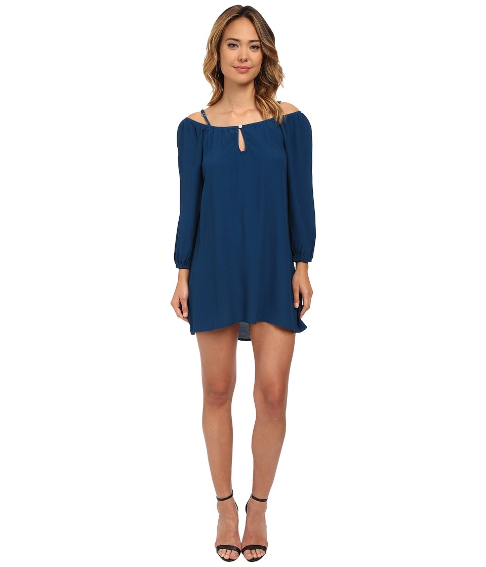 Lucy Love - Lotus Swing Dress (Peacock Blue) Women's Dress
