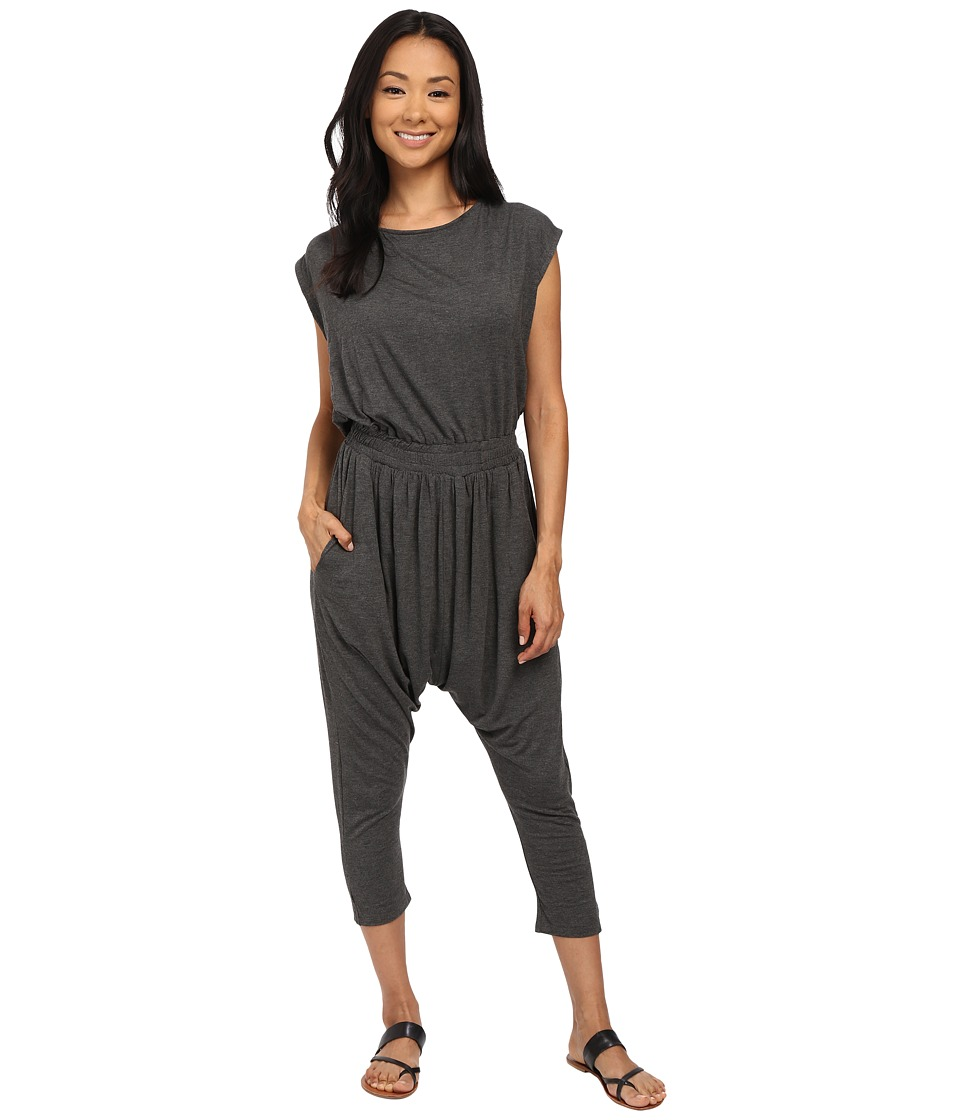 Lucy Love - Lonestar Jumpsuit (Dark Heather) Women's Jumpsuit & Rompers One Piece
