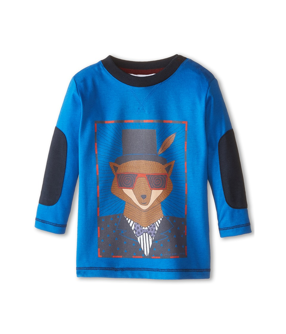 Little Marc Jacobs - Peached Jersey Tee w/ Elbow Patches (Infant) (Blue Marc) Boy's T Shirt