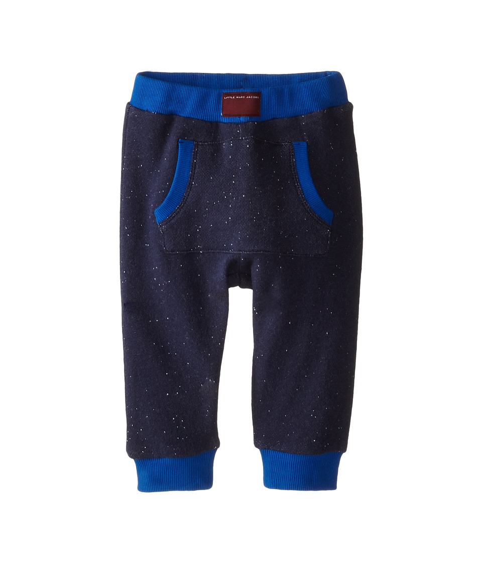 Little Marc Jacobs - Jogging Pants w/ Kangaroo Pocket (Infant) (Dark Obsidian) Boy's Casual Pants