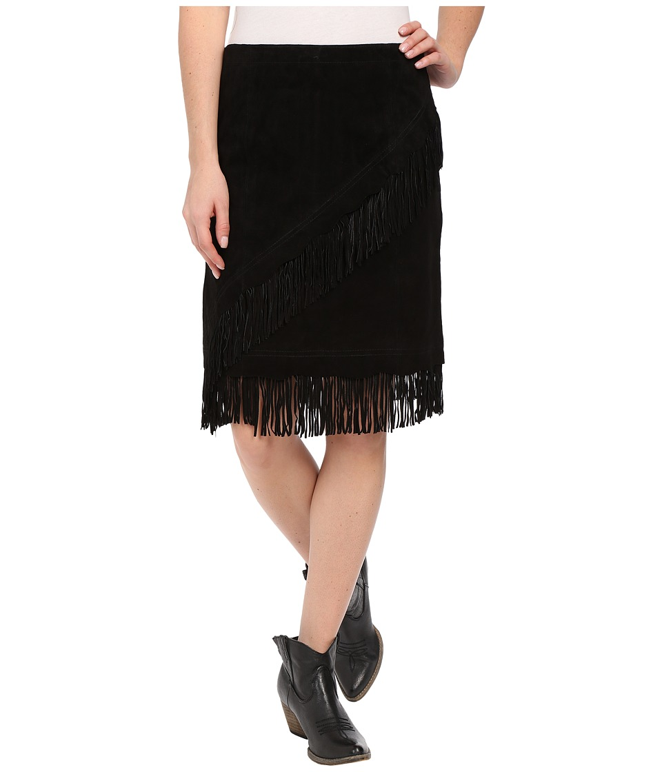 Scully - Tracy Suede Skirt (Black) Women's Skirt