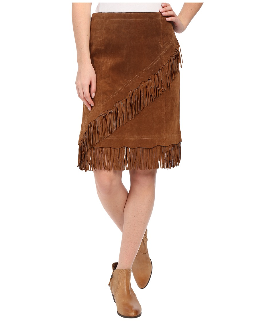 Scully - Tracy Suede Skirt (Cinnamon) Women's Skirt