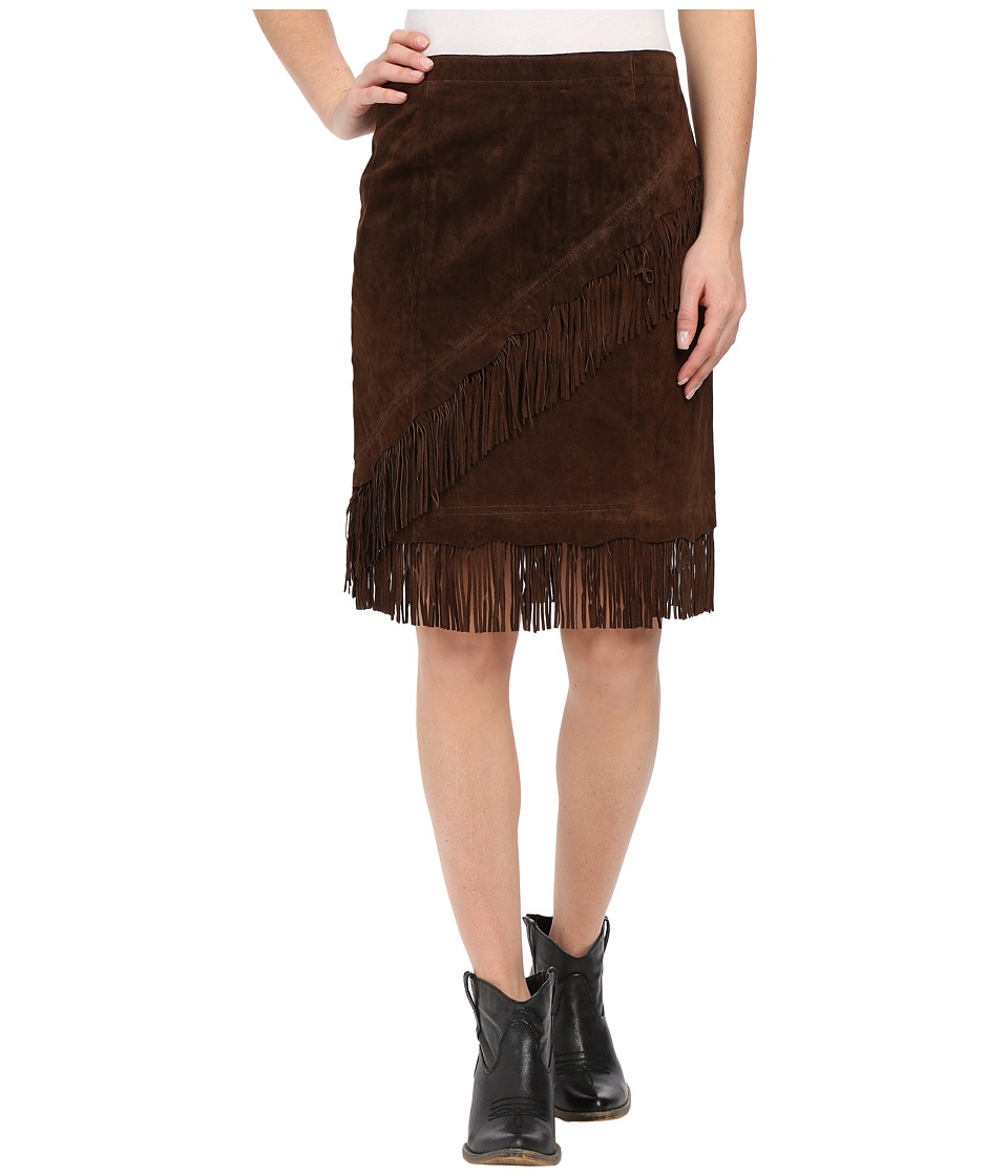 Scully Tracy Suede Skirt (Espresso) Women