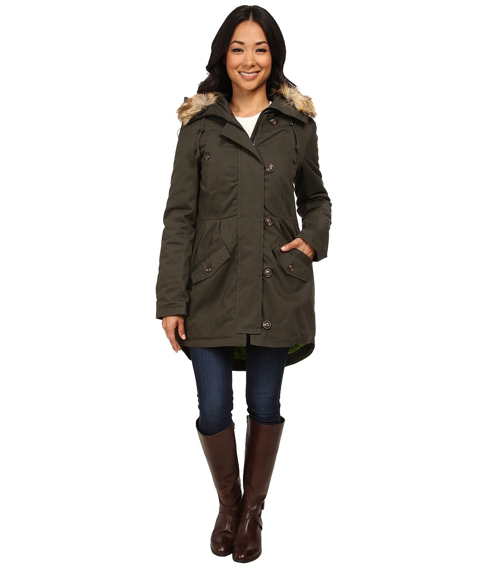 Sam Edelman - Cotton Anorak w/ Pleated Detail (Ivy Green) Women's Coat