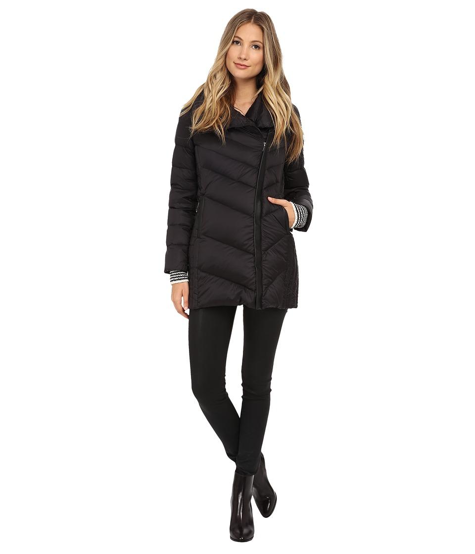 Sam Edelman Pryce Asymmetrical High Denist Down Jacket (Black) Women