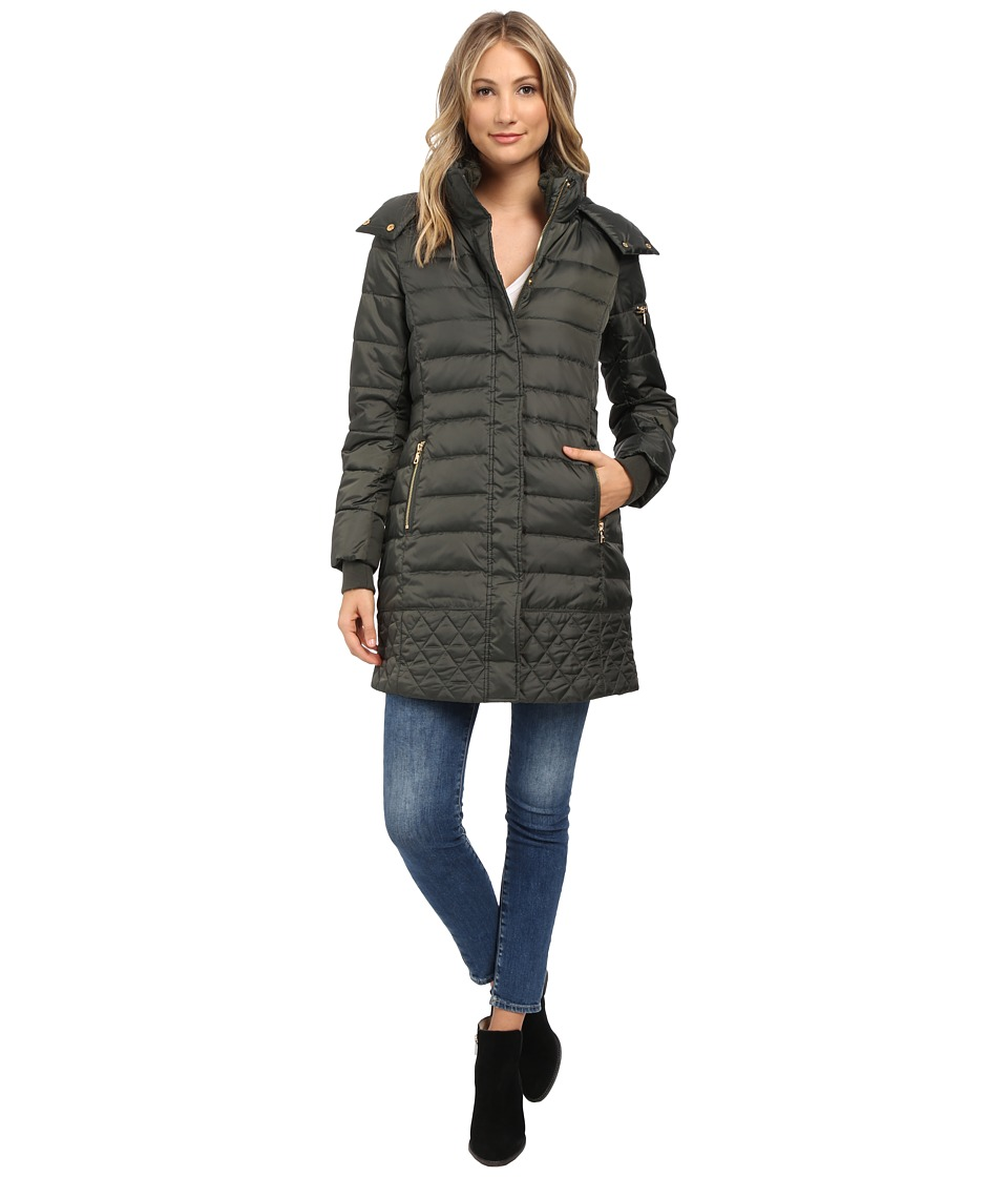 Sam Edelman - Lara Repeat 3/4 Down Jacket (Olive) Women