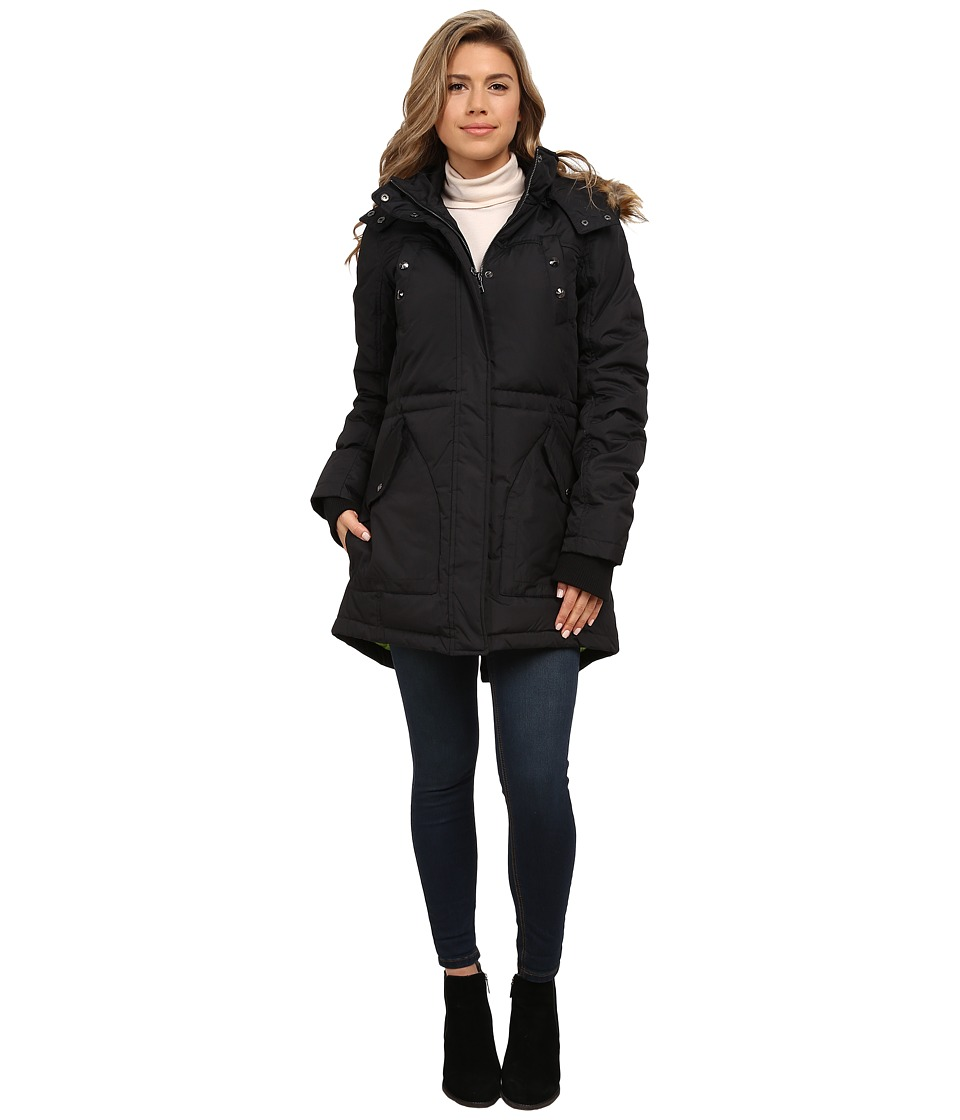 Sam Edelman - Long Parka w/ Pop Lining (Black) Women's Coat