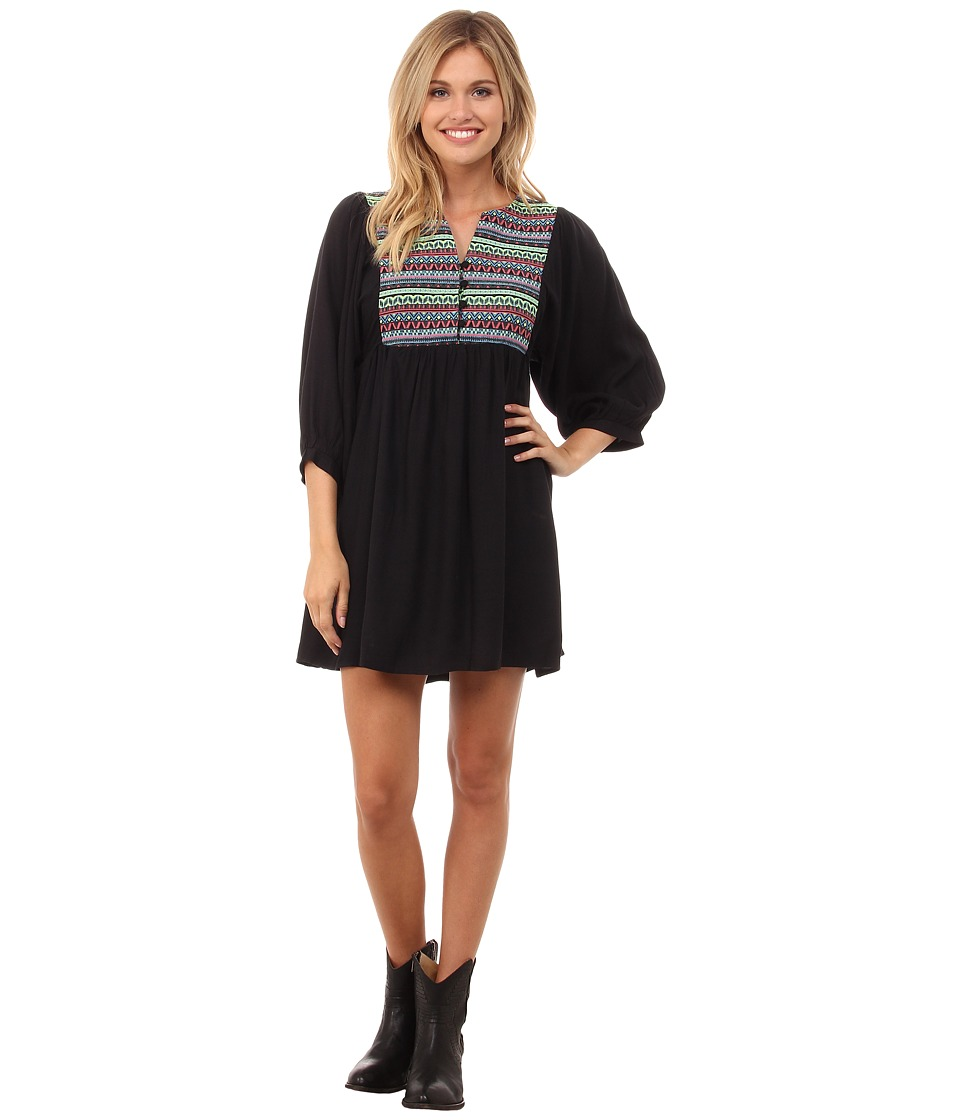 Rock and Roll Cowgirl - Long Sleeve Dress D4-4522 (Black) Women's Dress