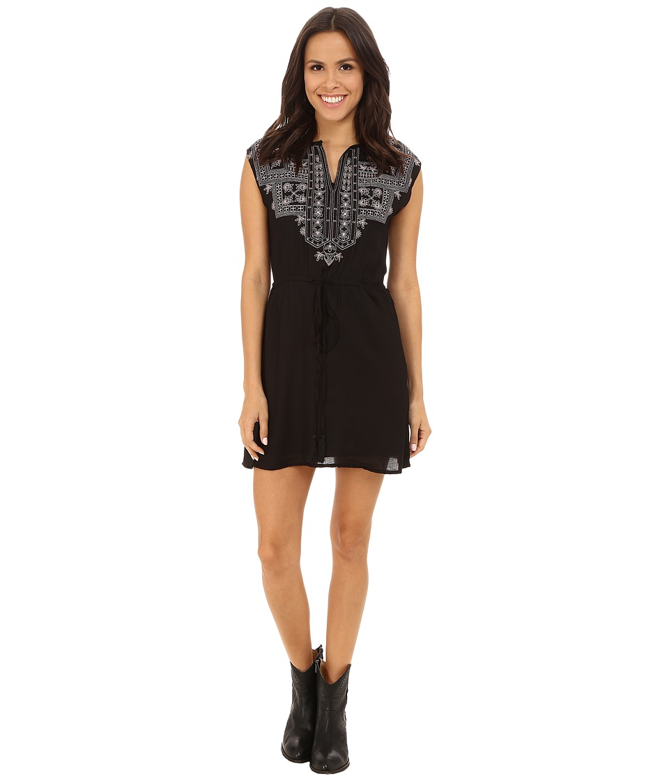 Rock and Roll Cowgirl - Sleeveless Dress D5-4520 (Black) Women's Dress