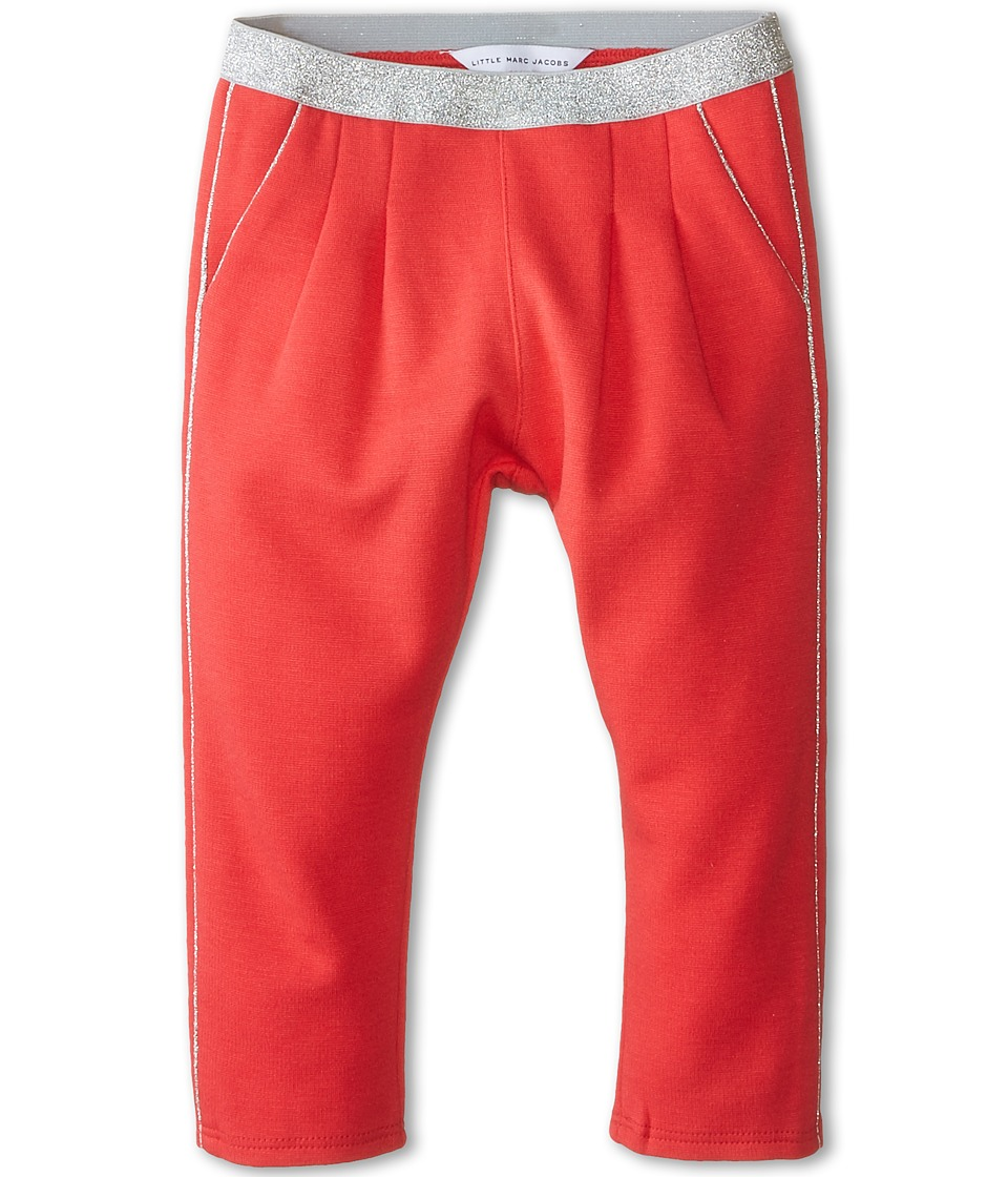 Little Marc Jacobs - Milano Pants with Lurex Waist (Infant) (Fuchsia) Girl's Casual Pants