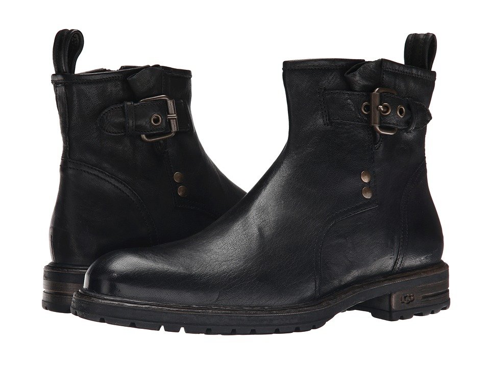 UGG Collection - Nicolo (Black) Men's Zip Boots
