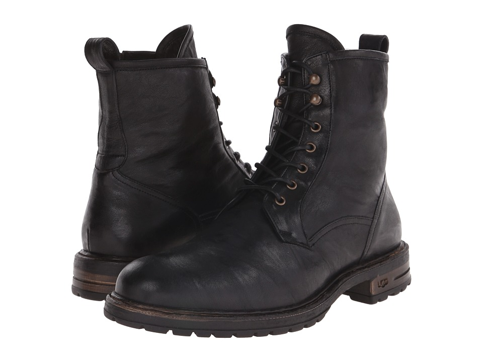 UGG Collection - Lucca (Black) Men's Lace-up Boots