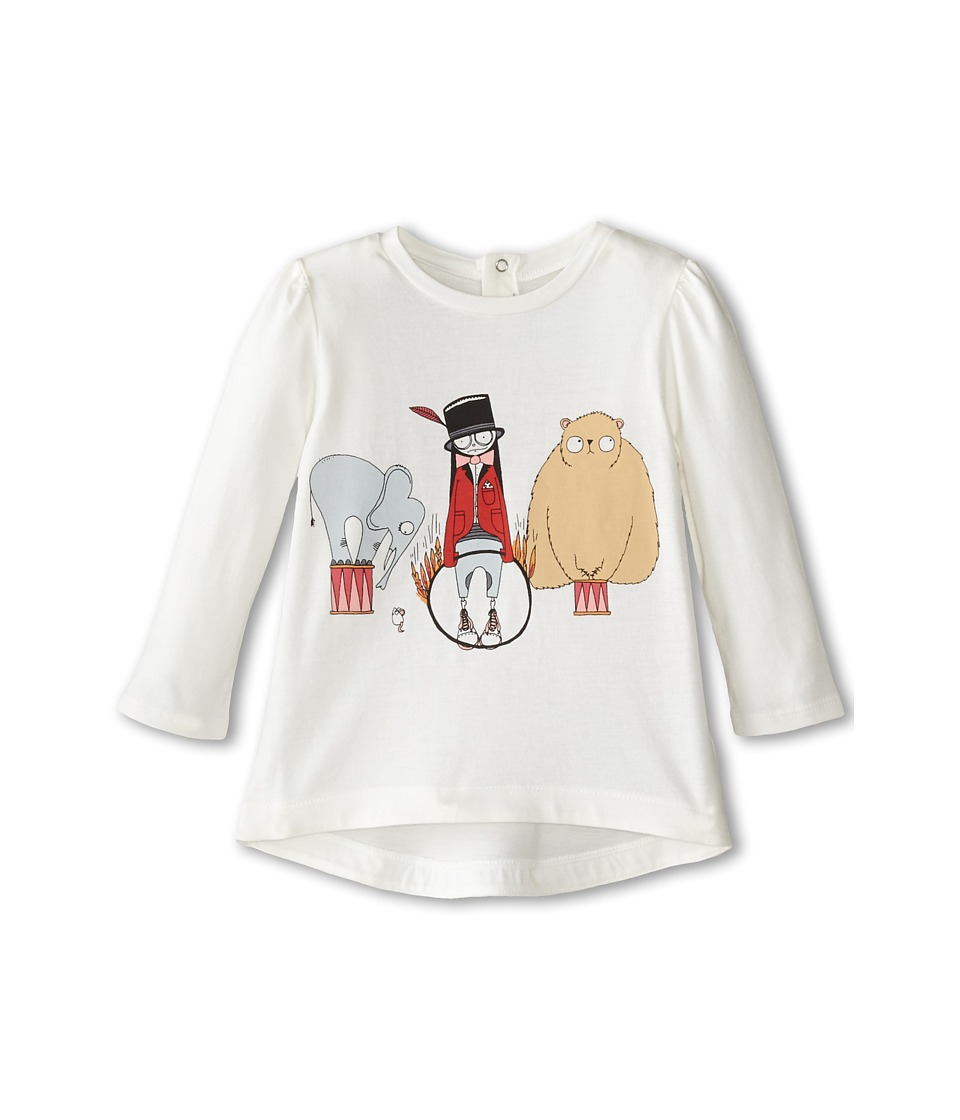 Little Marc Jacobs - Long Sleeve Miss Marc Printed Tee (Infant) (Off White) Girl's T Shirt