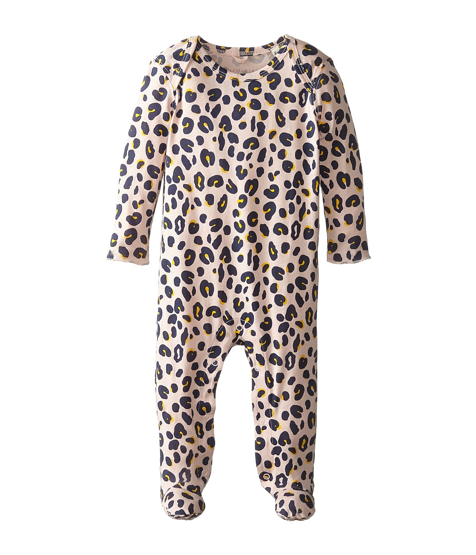 Stella McCartney Kids - Rufus Leopard Print Footie (Infant) (Grey) Girl's Jumpsuit & Rompers One Piece