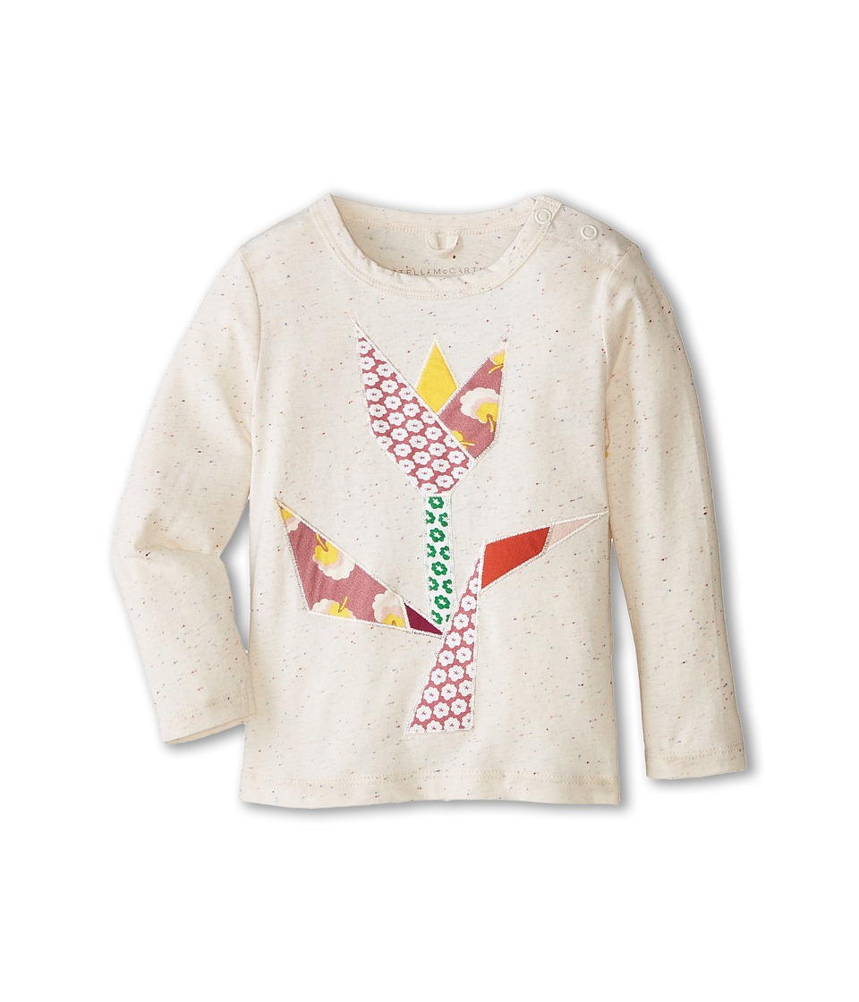 Stella McCartney Kids - Georgie Tulip Patched Speckled T-Shirt (Infant) (Cream) Girl