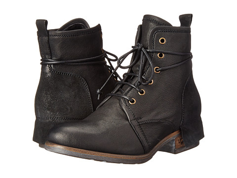 UGG Collection - Tesa (Nero Leather) Women's Lace-up Boots