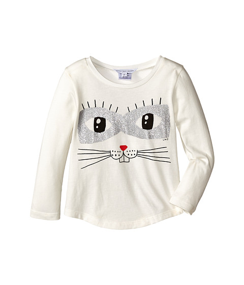 Little Marc Jacobs - Animal Printed T-Shirt (Toddler/Little Kids) (Off White) Girl