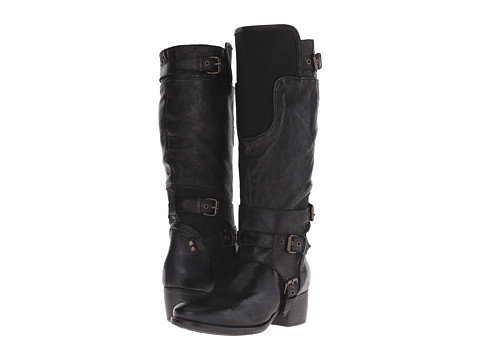 UGG Collection - Allesia (Black Leather) Women's Pull-on Boots