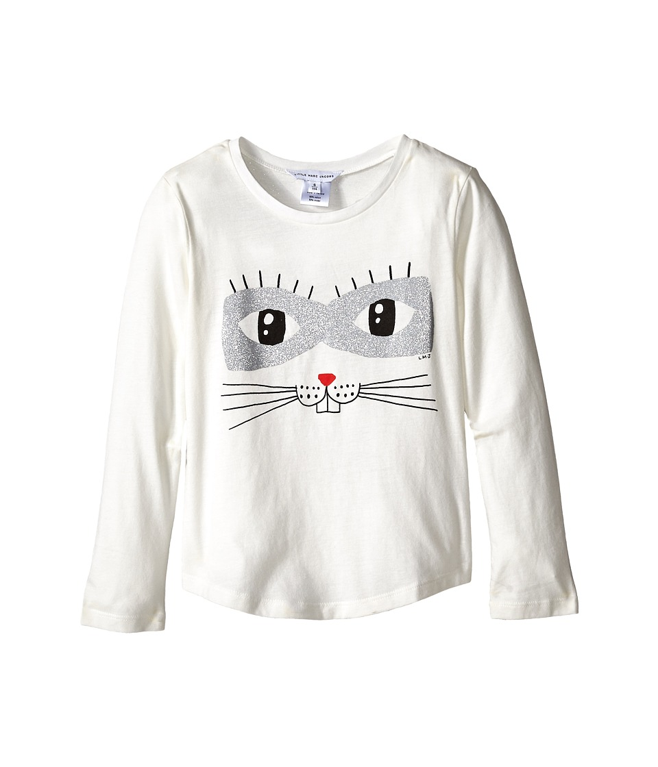 Little Marc Jacobs - Animal Printed T-Shirt (Little Kids/Big Kids) (Off White) Girl's T Shirt