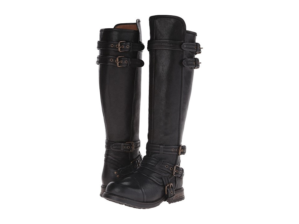 UGG Collection - Beta (Black Leather) Women's Zip Boots