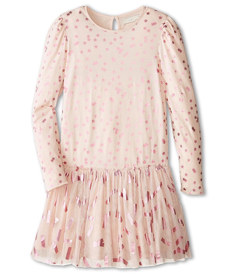 Stella McCartney Kids - Primrose Star Print Dress with Tulle Skirt (Toddler/Little Kids/Big Kids) (Pink) Girl's Dress