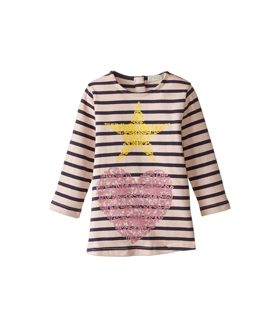 Stella McCartney Kids - Bretta Striped Dress w/ Star and Heart Design (Toddler/Little Kids/Big Kids) (Pink/Navy) Girl's Dress