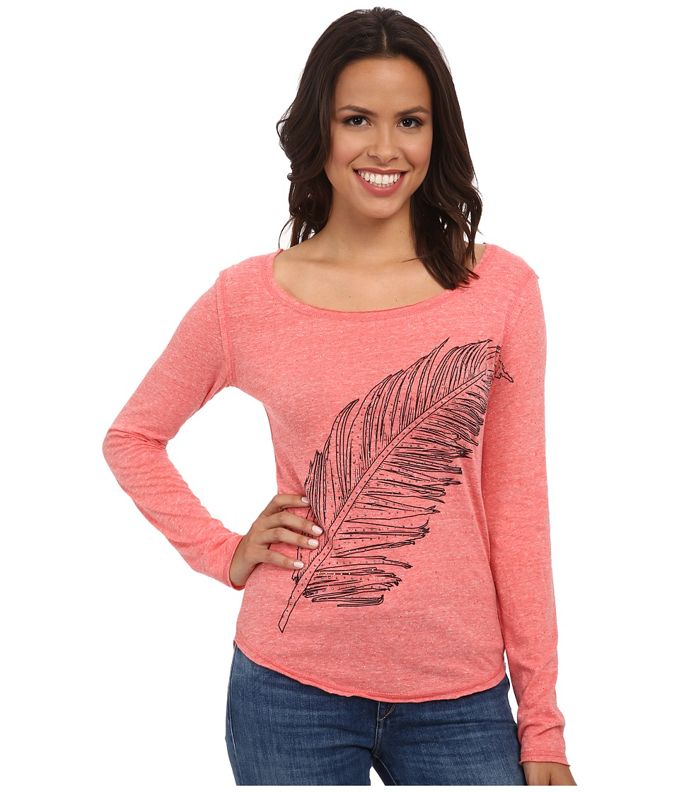 Rock and Roll Cowgirl - Long Sleeve T-Shirt 48T4248 (Coral) Women's T Shirt