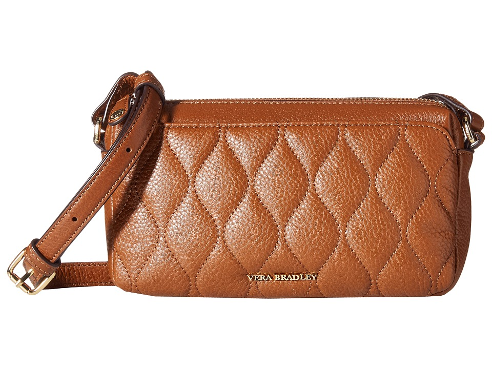 Vera Bradley - Quilted Sydney Crossbody (Cognac) Cross Body Handbags