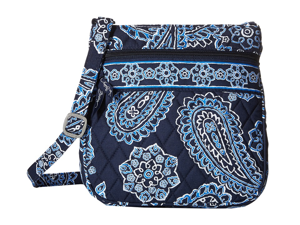 Vera Bradley - Petite Double Zip Hipster (Blue Bandana) Handbags