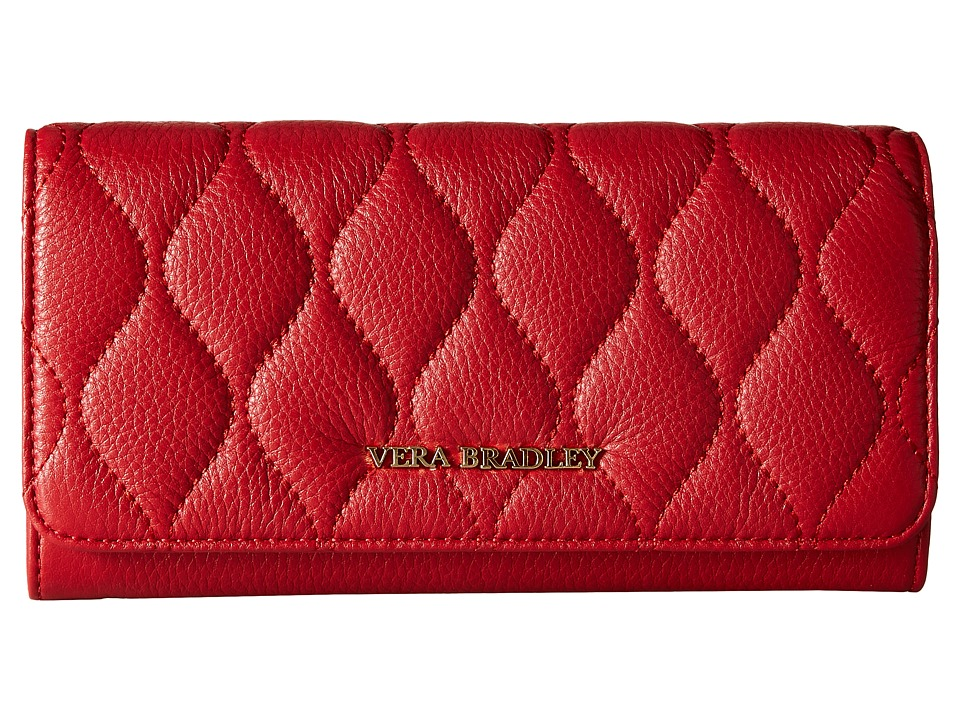 Vera Bradley - Quilted Audrey Wallet (Tango Red) Wallet Handbags