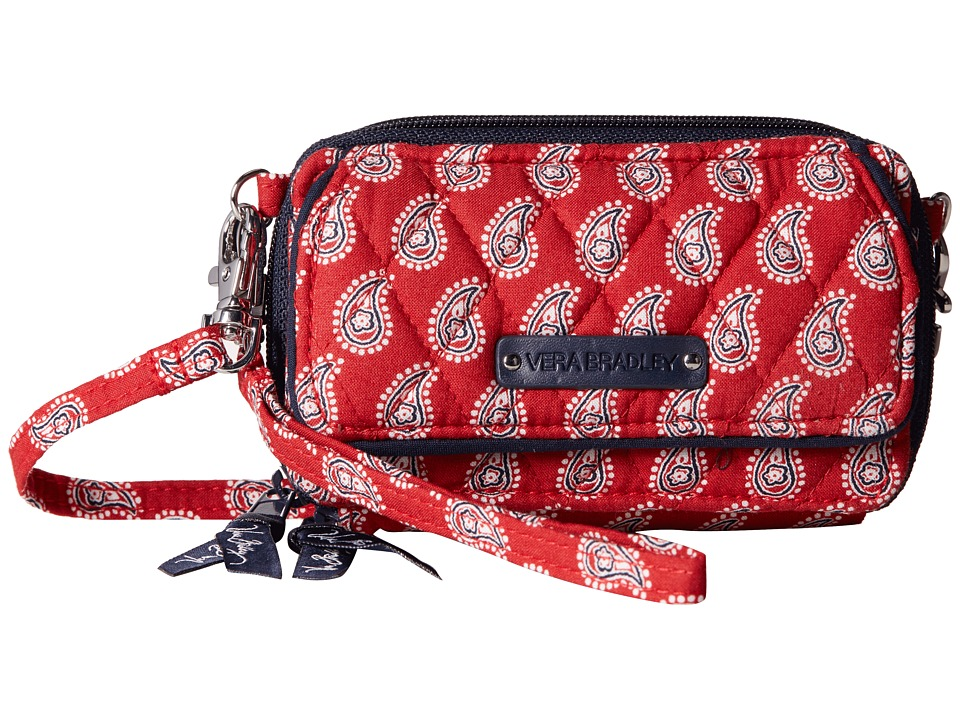 Vera Bradley - All In One Crossbody (Petite Red Bandana Paisley) Cross Body Handbags