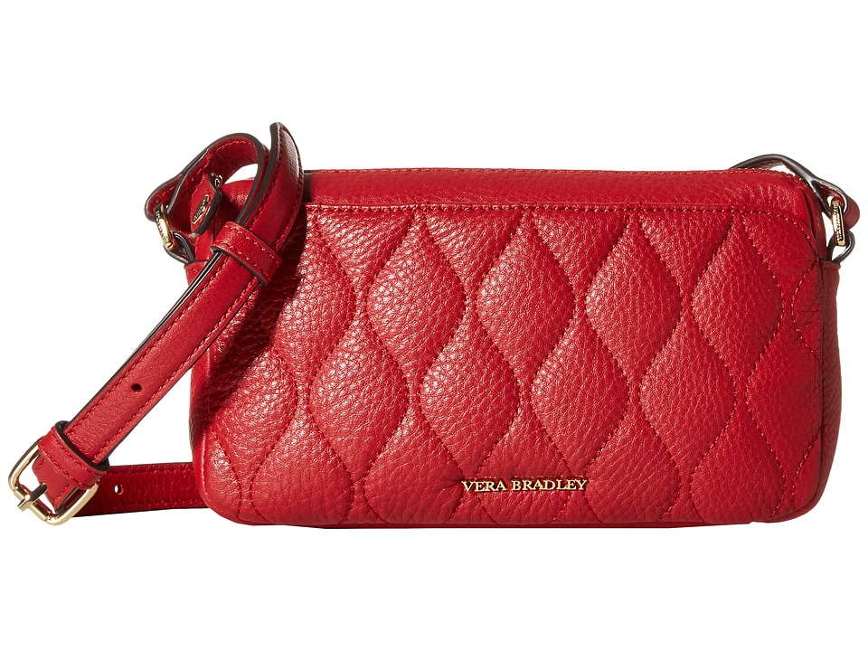 Vera Bradley - Quilted Sydney Crossbody (Tango Red) Cross Body Handbags