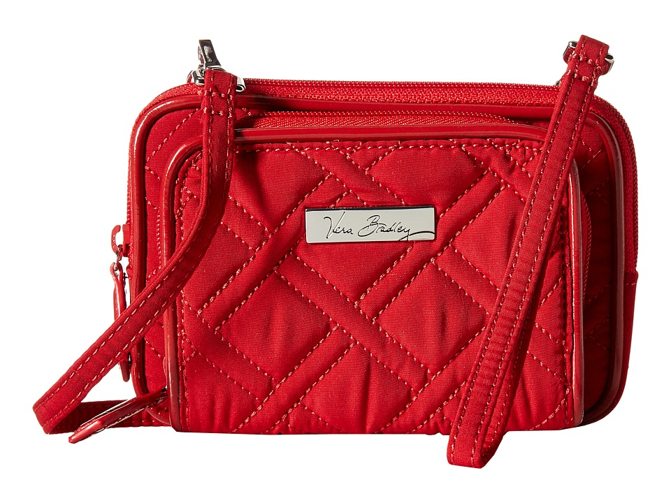 Vera Bradley - On The Square Wristlet (Tango Red/Red) Wristlet Handbags