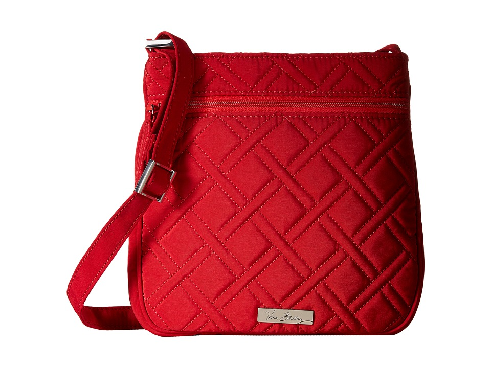 Vera Bradley - Petite Double Zip Hipster (Tango Red) Handbags
