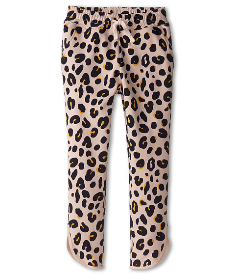Stella McCartney Kids - Emilie Leopard Print Fleece Pants (Toddler/Little Kids/Big Kids) (Pink) Girl