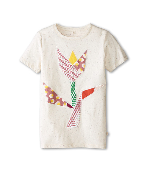 Stella McCartney Kids - Arlo Speckled Tulip Patched Tee (Toddler/Little Kids/Big Kids) (Cream) Girl