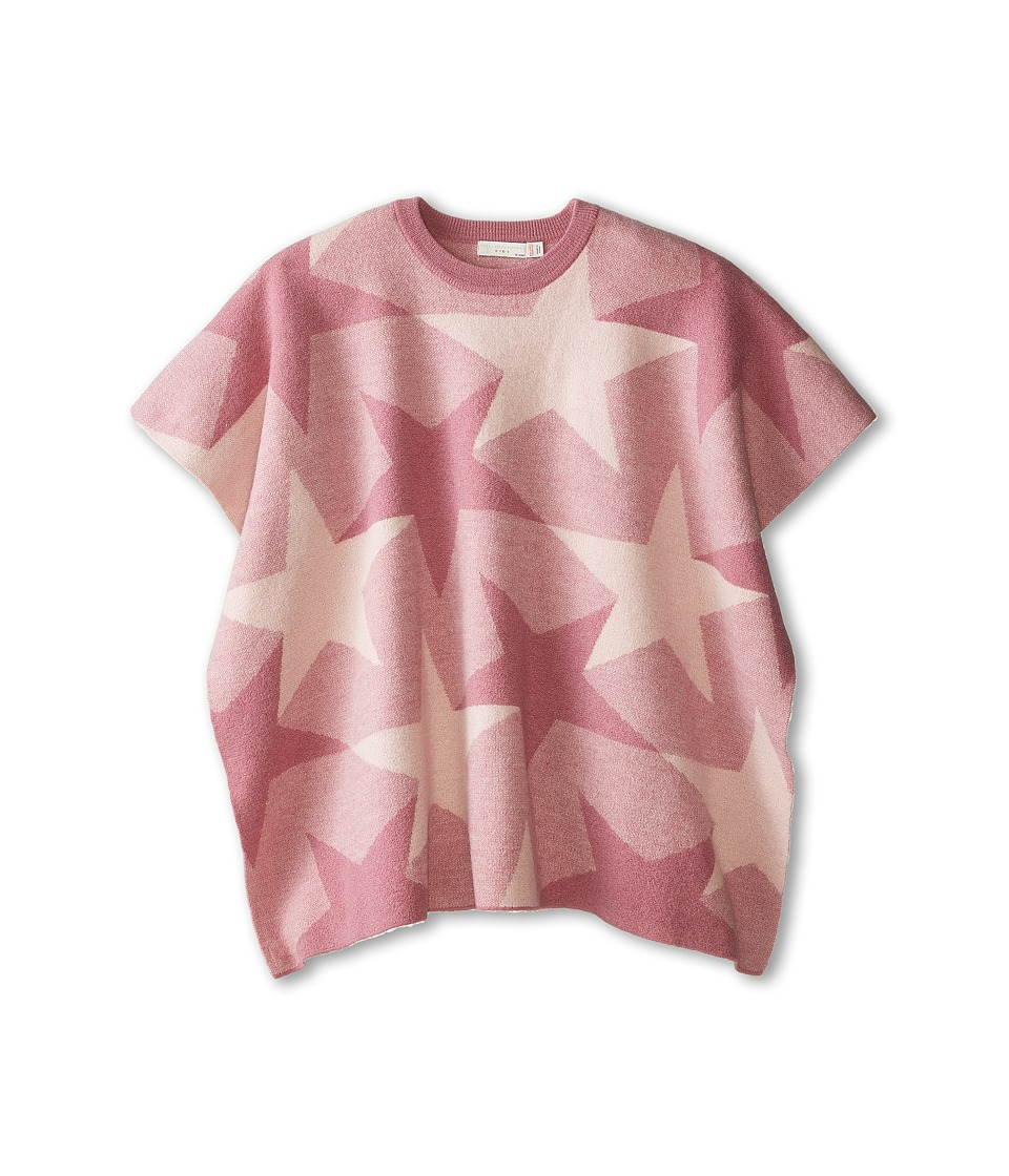 Stella McCartney Kids - Agnes Star Wool Cape (Little Kids/Big Kids) (Pink) Girl's Sweater