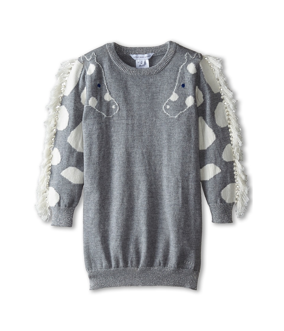Little Marc Jacobs - Knit Giraffe Dress (Toddler/Little Kids) (Grey) Girl