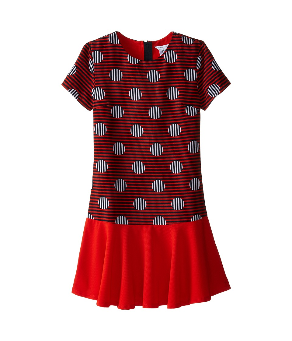 Little Marc Jacobs - Stripe and Dot Dress with Headband (Big Kids) (Redfire) Girl