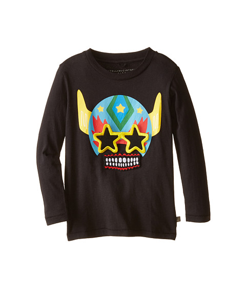 Stella McCartney Kids - Barley Robot Velcro T-Shirt (Toddler/Little Kids/Big Kids) (Black) Boy's T Shirt