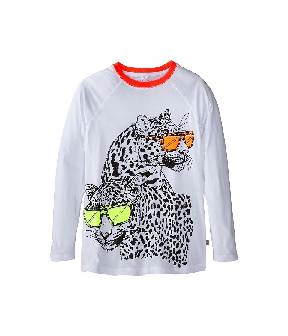 Stella McCartney Kids - Max Leopard w/ Sunglasses Print Tee (Toddler/Little Kids/Big Kids) (White) Boy