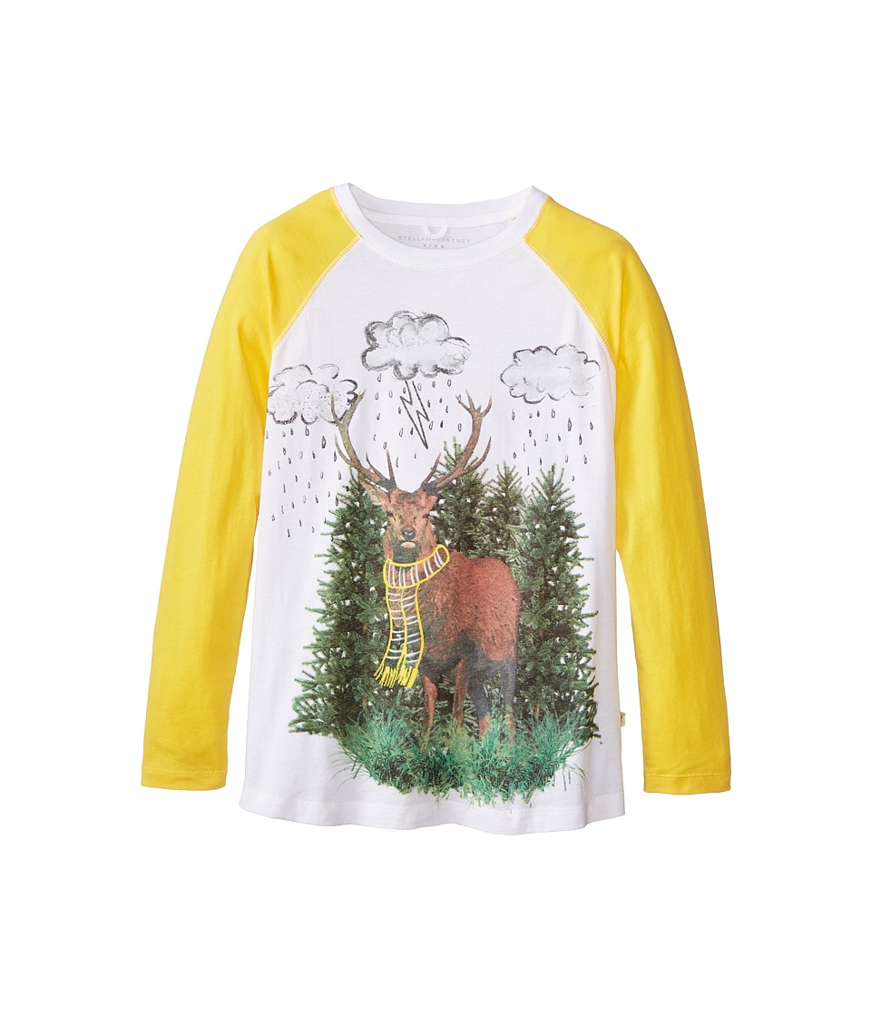 Stella McCartney Kids - Max Reindeer Raglan T-Shirt (Toddler/Little Kids/Big Kids) (White) Boy's T Shirt