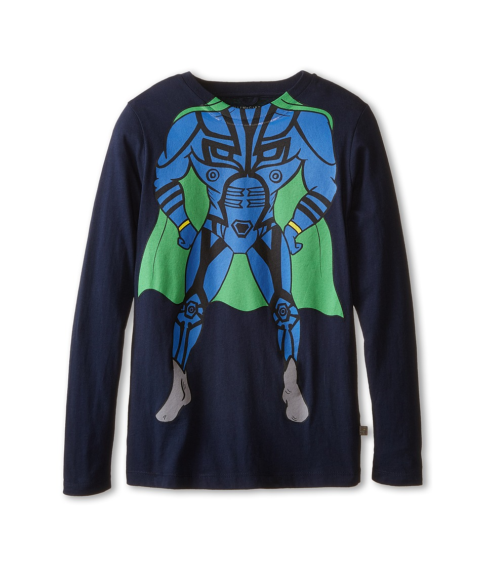 Stella McCartney Kids - Barley Superhero T-Shirt (Toddler/Little Kids/Big Kids) (Navy) Boy