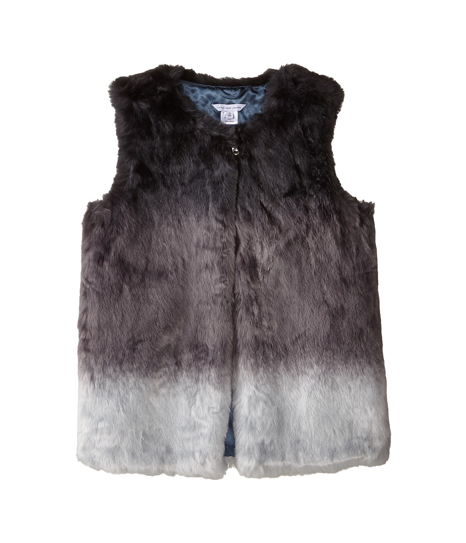 Little Marc Jacobs - Dip Dyed Faux Fur Vest (Little Kids/Big Kids) (Andoise) Girl's Vest