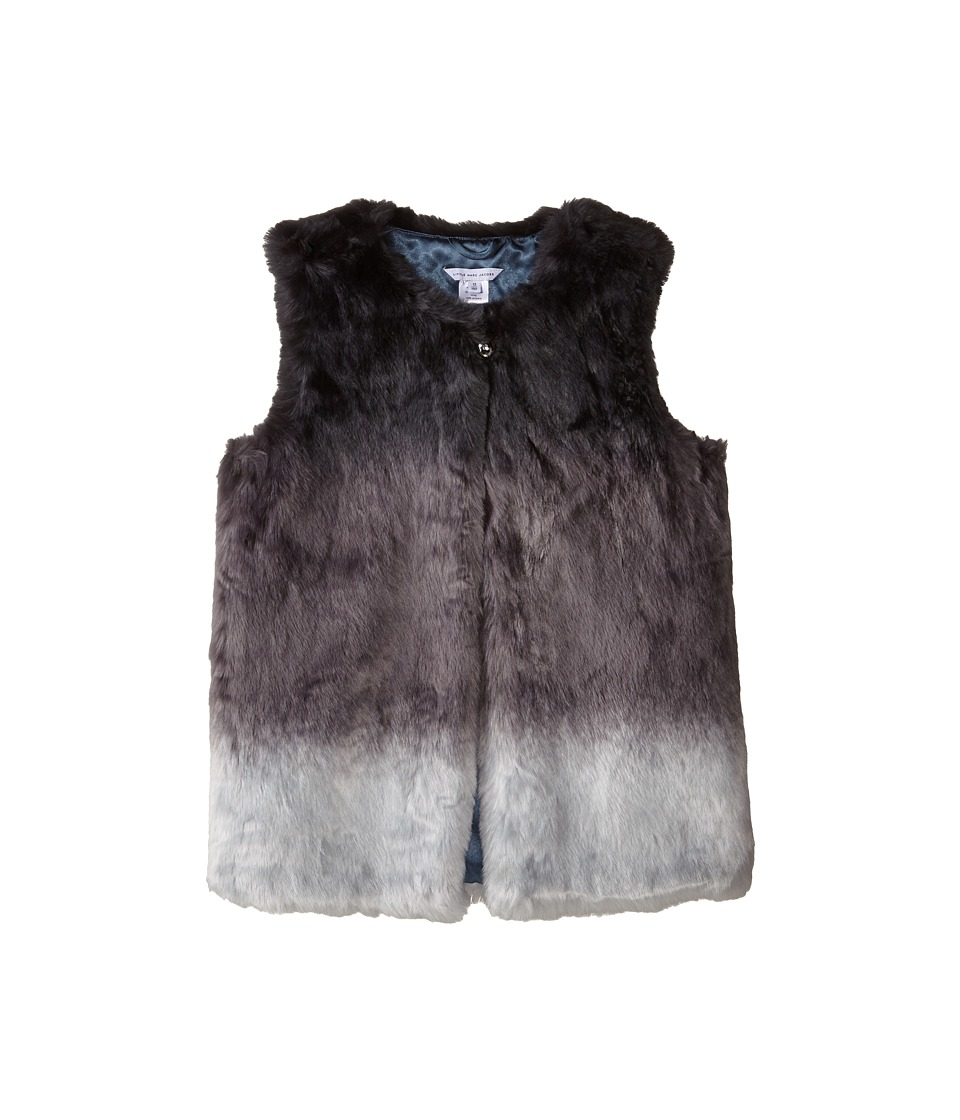 Little Marc Jacobs - Dip Dyed Faux Fur Vest (Big Kids) (Andoise) Girl's Vest
