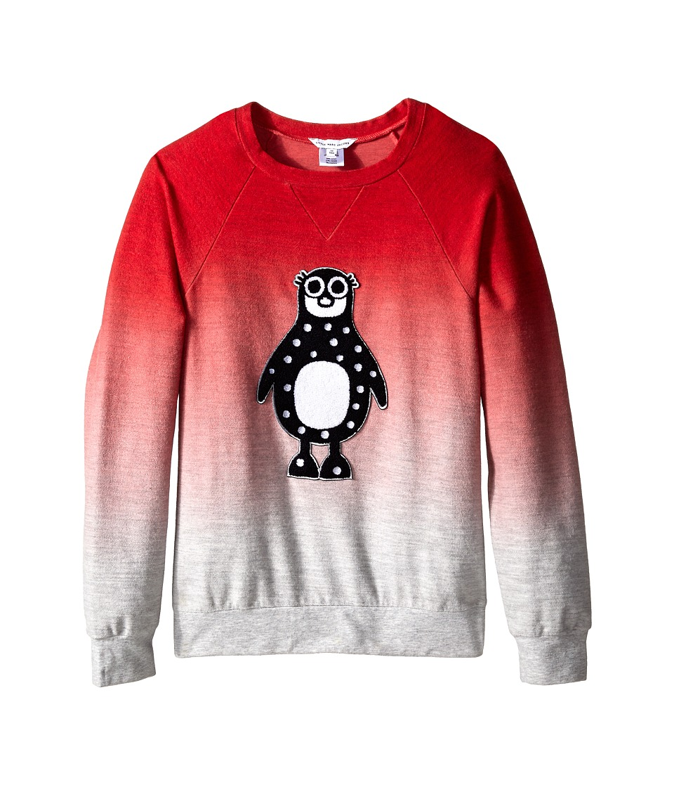 Little Marc Jacobs - Fleece Sweatshirt with Animal (Big Kids) (Ice Pink) Girl