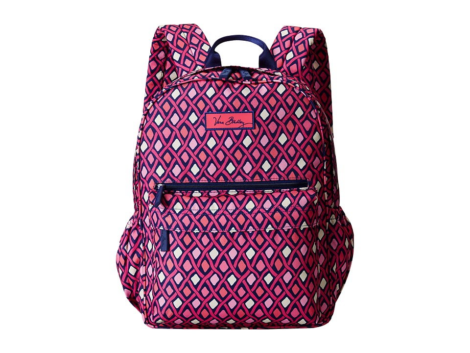 Vera Bradley - Lighten Up Just Right Backpack (Katalina Pink Diamonds) Backpack Bags