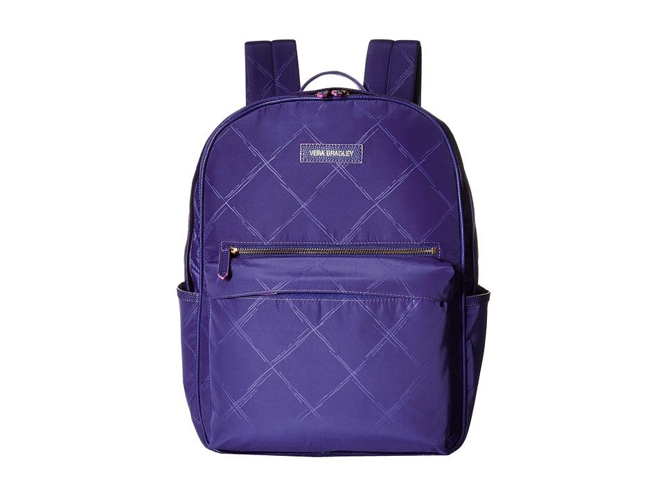Vera Bradley - Preppy Poly Large Backpack (Violet) Backpack Bags